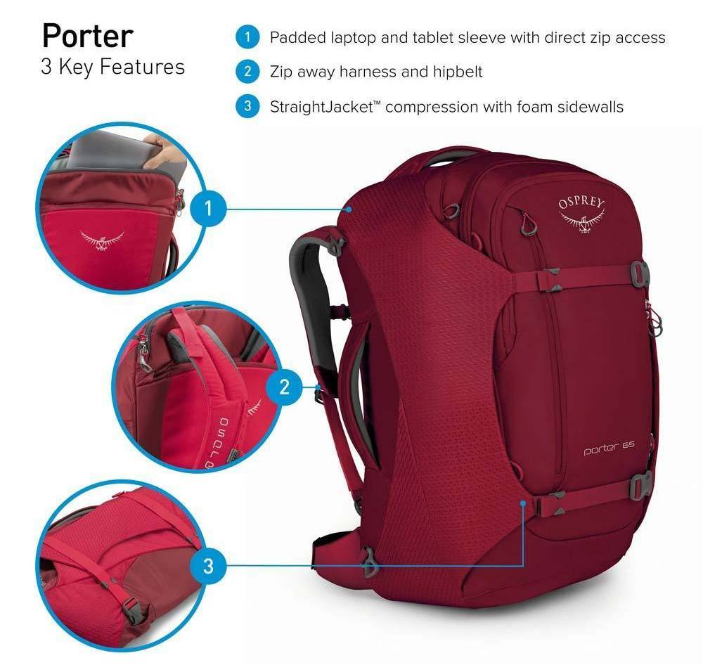 osprey carry on backpack Porter 46
