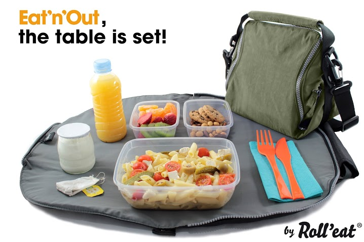 lunch bag and table set