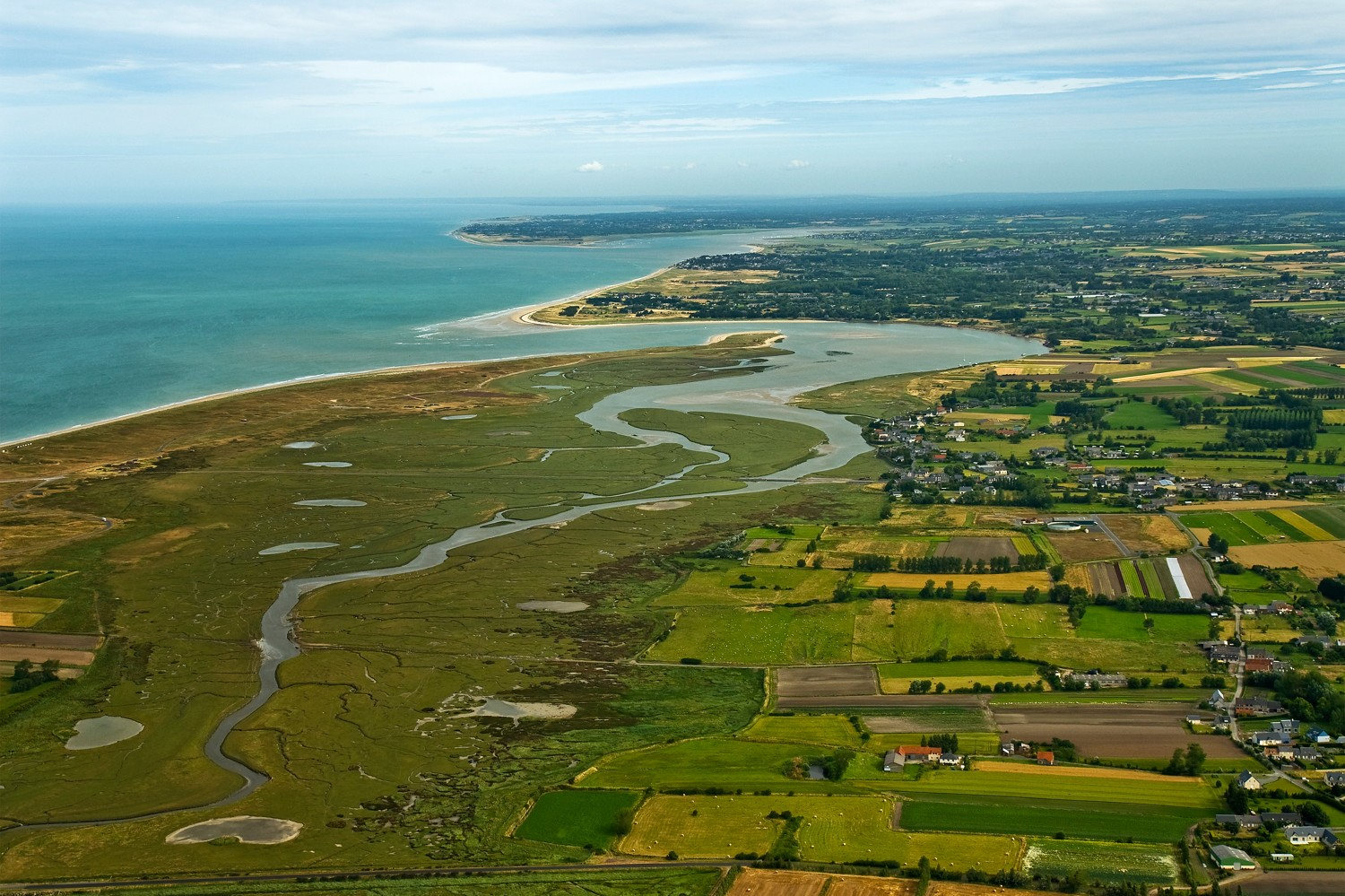 Vacation idea in France : the Coast of the havens of the Cotentin peninsula and its natural spaces