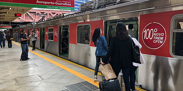 Train to Guarulhos airport: now departing hourly, every day