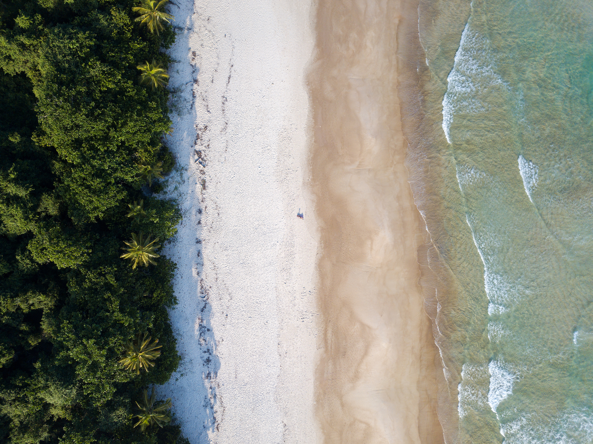 Lopes Mendes beach on Ilha Grande in Brazil from above